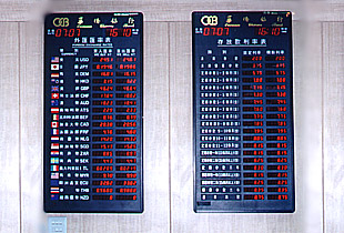 Currency Exchange Rate Board CNT FED Display